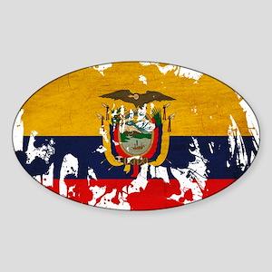 Ecuador Flag Sticker (Oval)