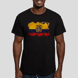 Ecuador Flag Men's Fitted T-Shirt (dark)