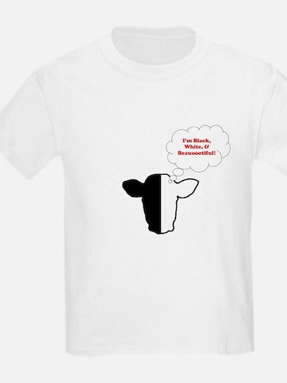 Black White Biracial Pride Kids T-Shirt
