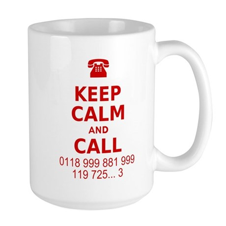 Keep Calm and Call Large Mug