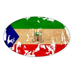 Equatorial Guinea Flag Sticker (Oval 50 pk)