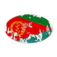 Eritrea Flag 38.5 x 24.5 Oval Wall Peel
