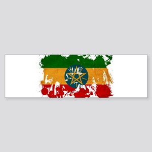 Ethiopia Flag Sticker (Bumper)