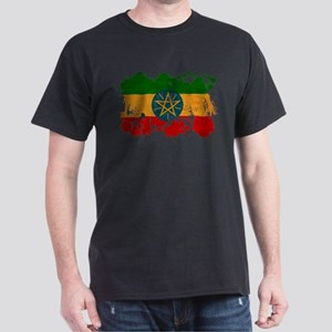 Ethiopia Flag Dark T-Shirt