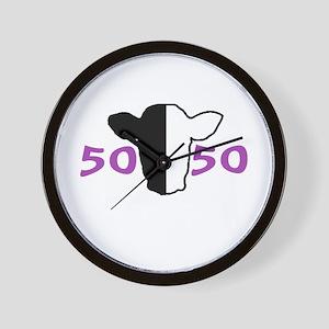 50/50 Purple Biracial Pride Wall Clock