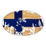 Finland Flag Sticker (Oval 10 pk)