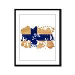 Finland Flag Framed Panel Print
