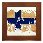Finland Flag Framed Tile