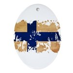 Finland Flag Ornament (Oval)