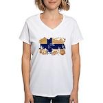 Finland Flag Women's V-Neck T-Shirt