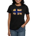 Finland Flag Women's Dark T-Shirt