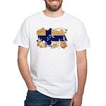 Finland Flag White T-Shirt
