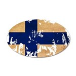 Finland Flag 38.5 x 24.5 Oval Wall Peel