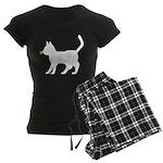 White Cat Icon Women's Dark Pajamas
