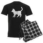 White Cat Icon Men's Dark Pajamas