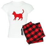 Red Cat Icon Women's Light Pajamas