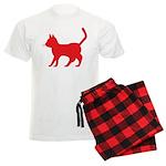 Red Cat Icon Men's Light Pajamas