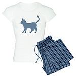 Blue Cat Icon Women's Light Pajamas
