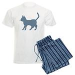 Blue Cat Icon Men's Light Pajamas