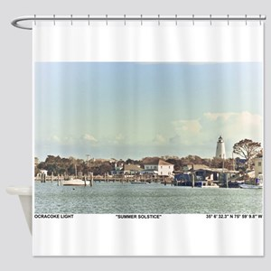Ocracoke Lighthouse. Shower Curtain