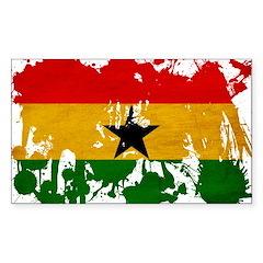 Ghana Flag Sticker (Rectangle 10 pk)