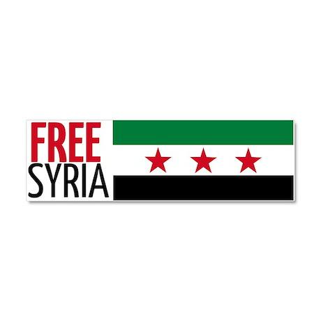 Free Syria Car Magnet 10 x 3