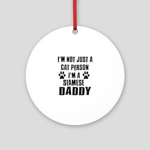 Siamese Daddy Ornament (Round)