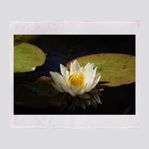 Perfect Water Lily Throw Blanket