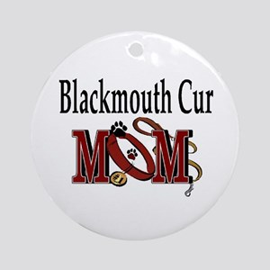 Blackmouth Cur Mom Ornament (Round)