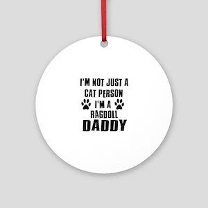 Ragdoll Daddy Ornament (Round)