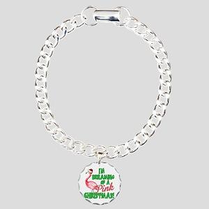 Pink Christmas Bracelet