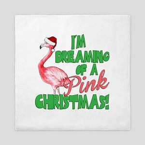 Pink Christmas Queen Duvet