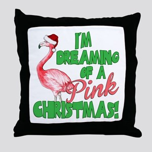 Pink Christmas Throw Pillow