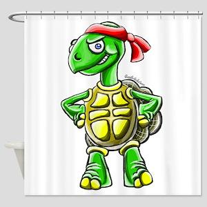Ninja Turtle Tortoise Shower Curtain