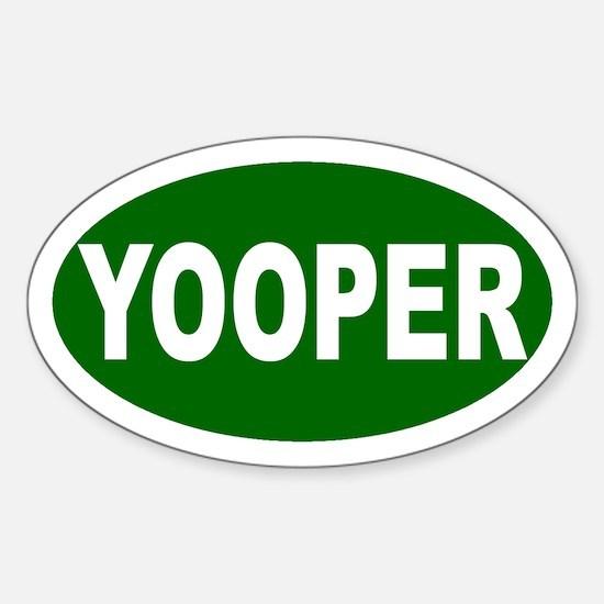 Yooper Oval Sticker (Green)