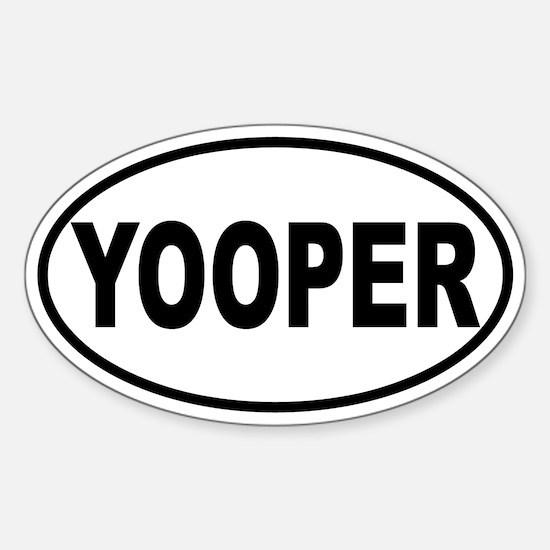 Yooper Oval Sticker (B&W)