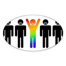 Gay = Happy Sticker (Oval)