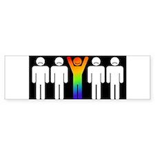 Gay = Happy (inverse) Sticker (Bumper)