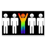 Gay = Happy (inverse) Sticker (Rectangle)