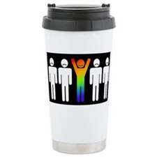 Gay = Happy (inverse) Stainless Steel Travel Mug