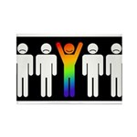 Gay = Happy (inverse) Rectangle Magnet