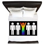 Gay = Happy (inverse) King Duvet