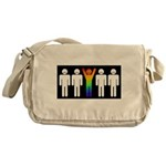 Gay = Happy (inverse) Messenger Bag
