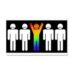 Gay = Happy (inverse) Car Magnet 20 x 12