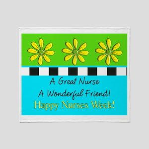 Nurse Week May 6th Throw Blanket