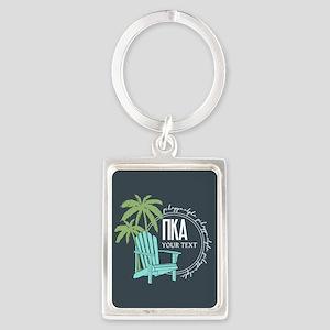 Pi Kappa Alpha Beach Personalize Portrait Keychain