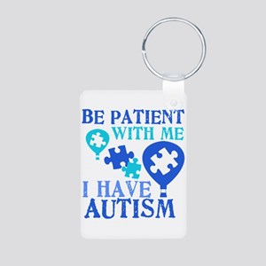 Be Patient Autism Aluminum Photo Keychain