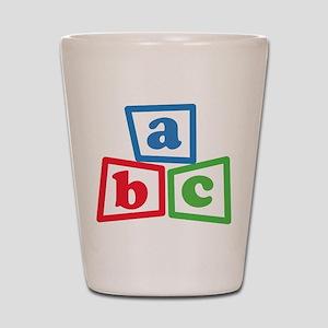 ABC Blocks Shot Glass