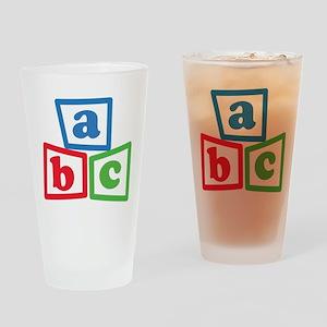 ABC Blocks Drinking Glass