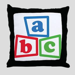 ABC Blocks Throw Pillow